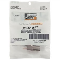 Schluter-Rondec Inside Corner for 1/2in. Satin Nickel Anodized Aluminum Rondec Profile