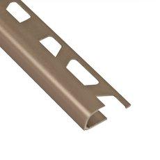 Schluter-Rondec Bullnose Edge Trim 1/2in. in Satin Nickel Anodized Aluminum