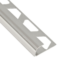 Schluter-Rondec Bullnose Edge Trim 1/2in. in Polished Chrome Anodized Aluminum