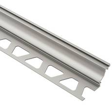 Schluter Dilex-Ahk Cove Base 3/8in. Aluminum Satin Nickel