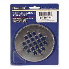 PlumBest Brushed Nickel Round Shower Drain Cover