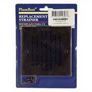 PlumBest Oil Rubbed Square Bronze Shower Drain Cover