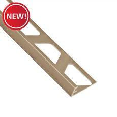 New! Schluter-Jolly Edge Trim 5/16in. in Satin Nickel Anodized Aluminum