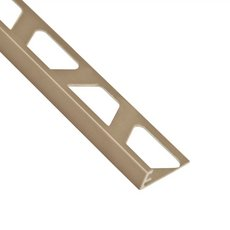 Schluter-Jolly Edge Trim 5/16in. in Satin Nickel Anodized Aluminum