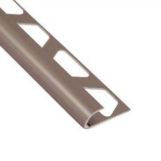 Schluter-Rondec Bullnose Edge Trim 3/8in. in Satin Nickel Anodized Aluminum