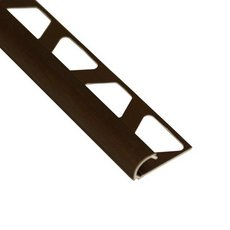 Schluter-Rondec Bullnose Edge Trim 3/8in. in Brushed Antique Bronze Anodized Aluminum
