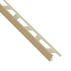 Schluter-Jolly Edge Trim 3/8in. in PVC with a Sand Pebble finish