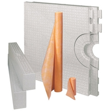Schluter-Kerdi-Shower-Kit Base with Centre Outlet Placement