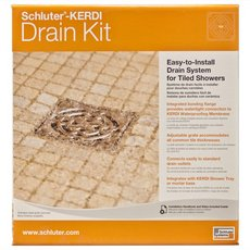 Schluter Kerdi-Drain Nickel PVC Drain Kit