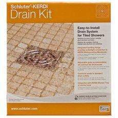 Schluter Kerdi-Drain 4in. x 4in. PVC Drain Kit in Stainless Steel