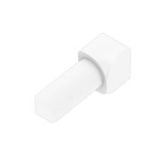 Schluter-Rondec Inside Corner for 5/16in. PVC Bright White Rondec Profile
