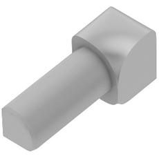 Schluter RONDEC Light Gray 1/4in. Coated PVC 90 Degree Inside Corner