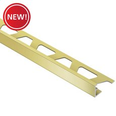 New! Schluter Jolly Edge Trim 3/8in. Aluminum Satin Brass
