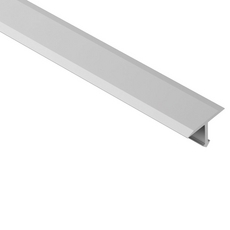 Schluter RENO-T 1 in. Satin Anodized Aluminum 8 ft. 2-1/2in. Transition Profile