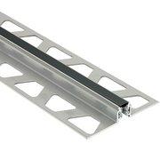 Schluter Dilex-Akws 3/8in. Aluminum w/ 1/4in. Joint Black