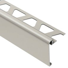 Schluter Rondec-Step-39 Profile 1/2in. Aluminum Satin Nickel