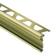Schluter Rondec-Ct Counter Trim 5/16in. Aluminum Brush Brass