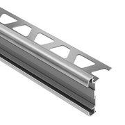 Schluter Rondec-Ct Counter Trim 3/8in. Aluminum Brush Chrome