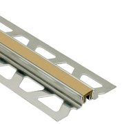Schluter Dilex-Ksn 7/16in. Stainless Steel w/ 7/16in. Joint Light Beige