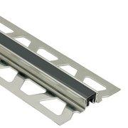 Schluter Dilex-Ksn 17/32in. Stainless Steel w/ 7/16in. Joint Black