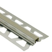 Schluter Dilex-Ksn 5/8in. Stainless Steel w/ 7/16in. Joint Gray