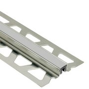 Schluter Dilex-Ksn 5/8in. Stainless Steel w/ 7/16in. Joint Classic Gray