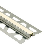 Schluter Dilex-Ksn 5/8in. Stainless Steel w/ 7/16in. Joint Sand Pebble