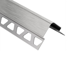 Schluter ECK-E 7/16in. Brushed Stainless Steel 8ft. 2-1/2in. Metal Tile Edging Trim
