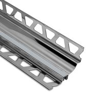 Schluter Dilex-Hks Cove 5/16in. X 9/32in. Stainless Steel / Classic Grey