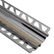 Schluter Dilex-Hks Cove 5/16in. X 9/32in. Stainless Steel / Light Beige