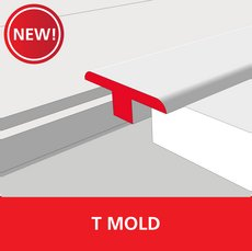 New! Color 901 Universal Unfinished Solid Hardwood T Mold