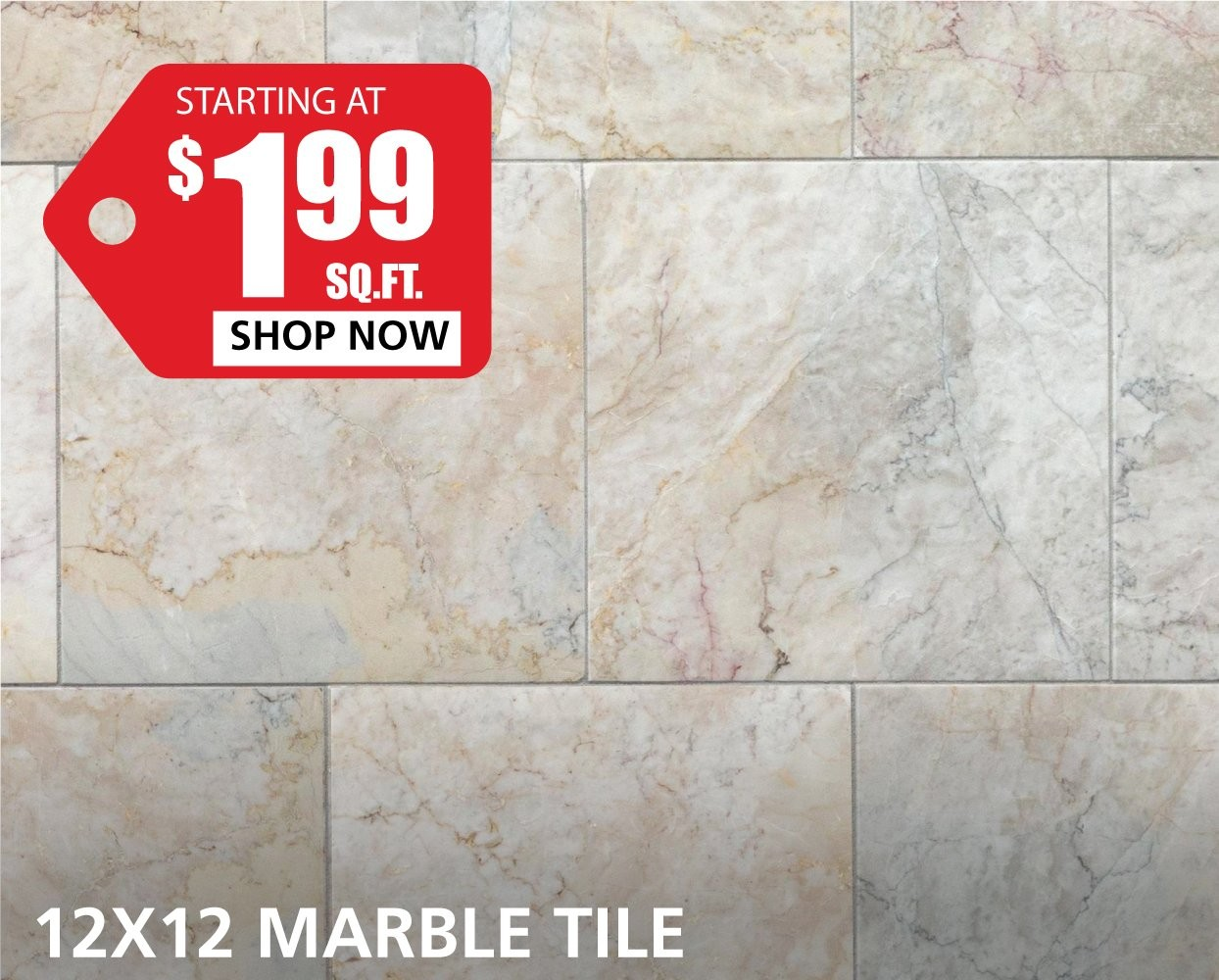 12 X 12 Marble Tile