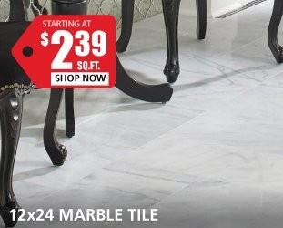 Marble starting at $2.39 per square foot