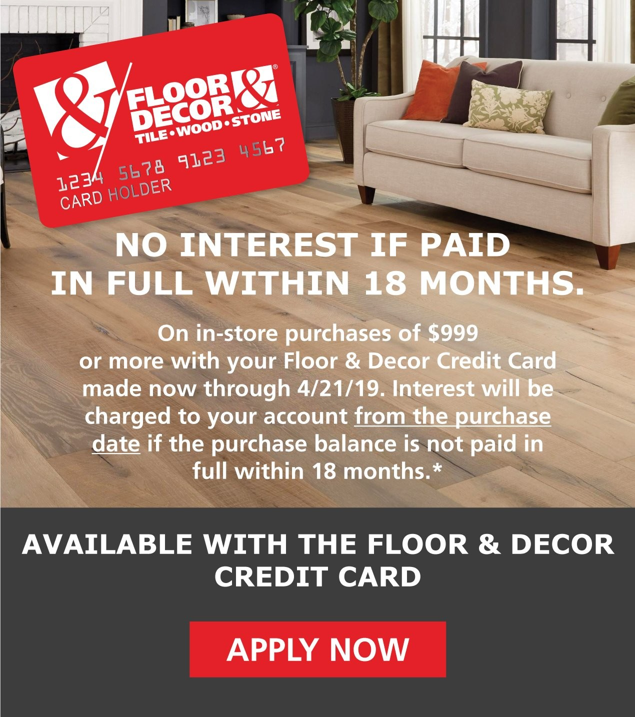 floor and decor credit card credit center floor decor 5146