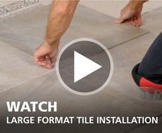 Large Format Tile Installation